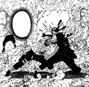 Kakashi perfura Zabuza