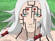 Kimimaro en el Nivel Uno de su Transformación de Sello Maldito Anime
