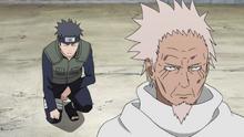 Shisui tells to Hiruzen