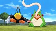 Gamariki entrena a Naruto