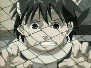Inari viendo la ejecución de su padre