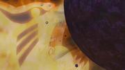 Naruto en su nueva forma creando una Bola Bestia con Cola gigante