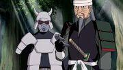 Okisuke habla con Mifune después de derrotar a Hanzo