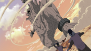Tobi llega al campo de batalla