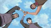 Ittan, Ganryū y Kiri se unen para derrotar a Akatsuki