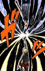Naruto y Sasuke chocan ataques por última vez Manga