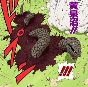 Elemento Tierra Pantano del Inframundo Manga