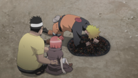 Miina freed Naruto from the snakes