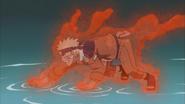 O chakra da Nove-Caudas toma conta de Naruto