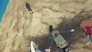Shikamaru, Chôji et Ino contre Asuma