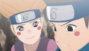 Moegi preocupada com Konohamaru