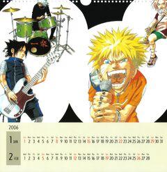 Naruto Calendario 2006 Enero-Febrero Versión A