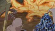 Naruto se tranforma em Kurama