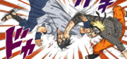 Naruto e Sasuke se socam