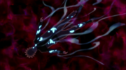 Naruto siendo consumido por el Kyubi