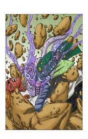 Chōji derrota Jirōbō (Mangá)