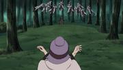 Chiyo ataca a Kankuro usando cuerpos de samurais