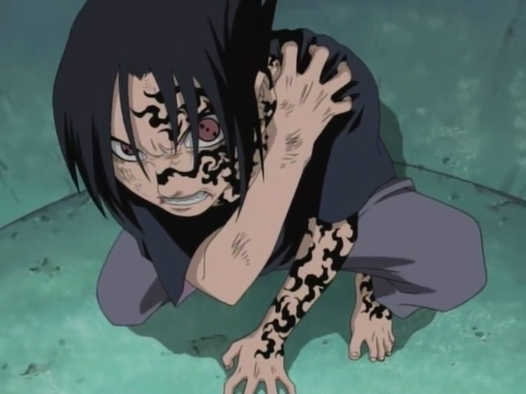 image sasuke s cursed seal level 1 png narutopedia fandom