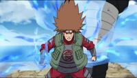 Chōji delgado tras usar el Jutsu Control de Calorías