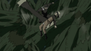 Hiruzen libera a Naruto