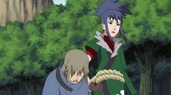 Yukimaru cansado de sua viajem com Guren