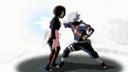 Kakashi atraviesa a Rin con su Chidori