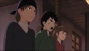 Watase y su equipo patrullando Konoha