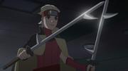 Kiba nas mão de Buntan Kurosuki