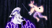 Madara bloquea el ataque de Naruto
