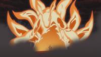Transformación de Bestia con Cola incompleta de Naruto