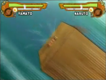 Yamato sends the opponent up in the air…