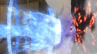 Chōjūrō attacks Sasuke