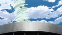 Liberação de Vento - Tornado Violento (Momoshiki - Anime)