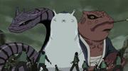 Manda, Katsuyu e Gamabunta Jovens
