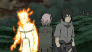 Naruto e Sasuke analisam os poderes um do outro