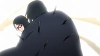 Sasuke saves his daughter