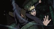 Tobi esquiva el Rasengan de Naruto