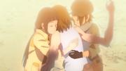 Tsuru e Dōshu conseguem abraçar Enko