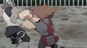 Chōji luchando contra un ninja revivido