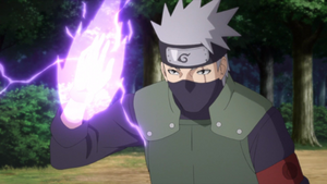 Elemento Rayo Electricidad Púrpura Anime