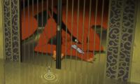 Kurama's initial cage