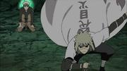 Minato rejoint Naruto