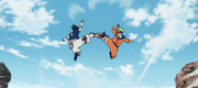 Naruto y Sasuke comienzan a luchar