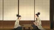 Shikadai y shikamaru jugando shoji