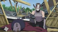 Yamato espionando Naruto e seu time