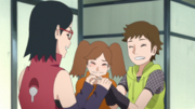 Namida e Wasabi agradecem Sarada