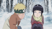 Naruto's first encounter with Hinata