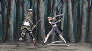 Pakura lutando contra Omoi