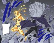Tobi é atingido pelo Rasengan (Colorido)