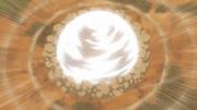 A esfera de vento criada pelo impacto